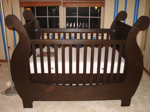 Bench Plan Nursery Baby Round Crib Woodworking Project