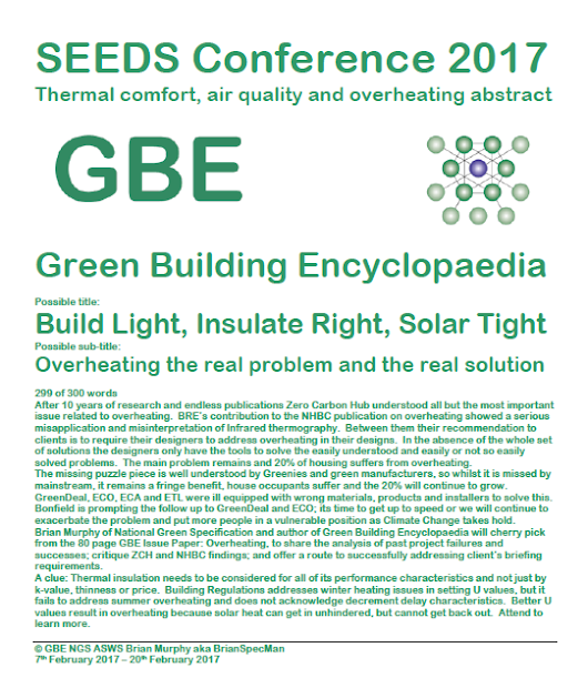 SEEDS Conference 2017 Overheating Abstract - Green Building Encyclopaedia