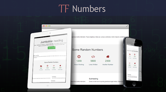 Number Counter Animation Wordpress Plugin - TF_Numbers