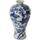 A&b Home Ren Blue & White Bird Vase