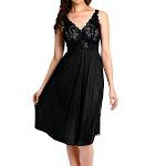 Shadowline Silhouette 40 Inch Gown, Black (37737) 2X