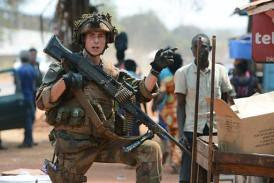 French soldier on guard in the Central African Republic. Thousands of foreign forces are occupying the state. by Pan-African News Wire File Photos