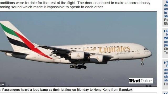 Voo da Emirates saiu de Bankok
