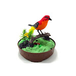 Az Trading & Import Bc507b Singing & Chirping Bird In Cage - Realistic Sounds & Movements