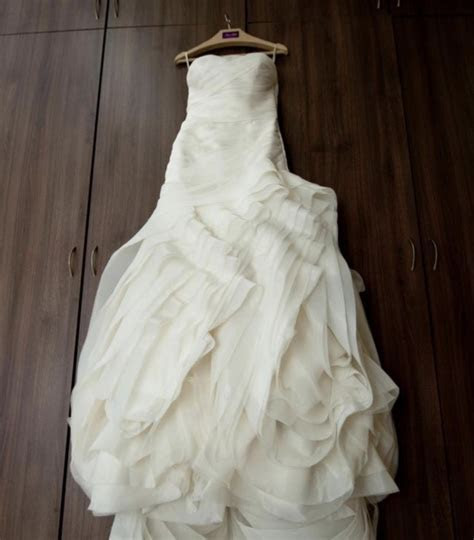 Vera Wang White Collection Organza Trumpet Gown VW351011