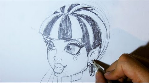 Comment dessiner draculaura de profil dessins de monster high comment - Comment dessiner une monster high ...