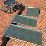Prairie View Industries 4-ft x 36-in Portable Solid Wheelchair Ramp 800 lb. Weight Capacity Maximum 8-in Rise