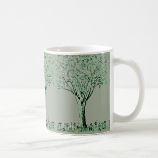 Tree Sketched Coffee/Tea Mug