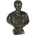 Bronze Finished Julius Caesar Bust Statue
