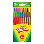 Crayola Mini Twistables Crayons, Nontoxic - 24 Ea