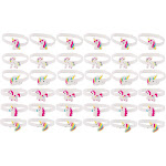 36-Pack Glow in The Dark Unicorn Bracelets for Girls Birthday Party Favors Gifts - Multi-color (N/A - N/A - Horizontal - Holiday)