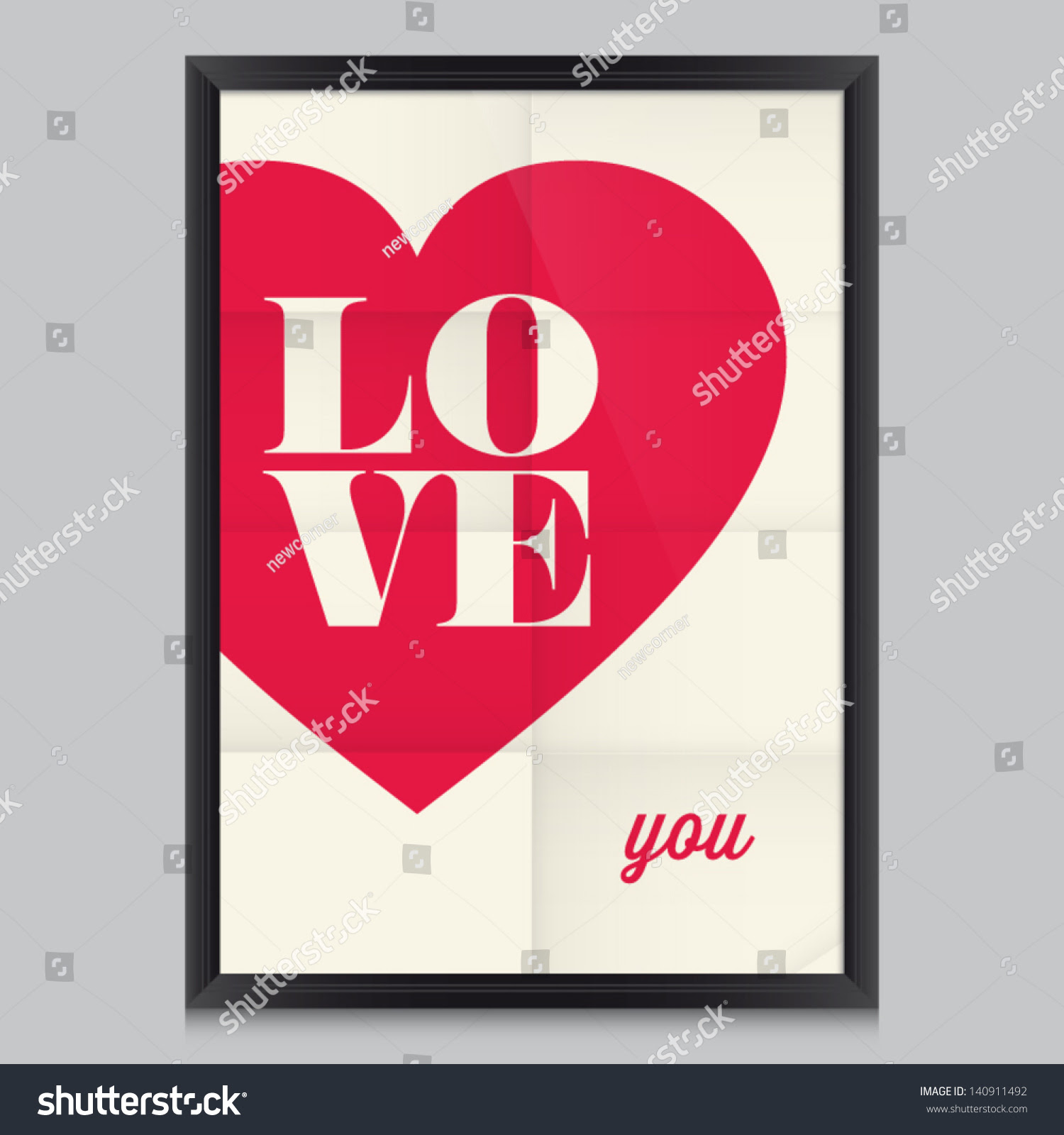 Love Quote Poster Effects Poster Frame Stock Vector 140911492 ...