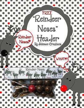 Reindeer Noses Snack Bag Header