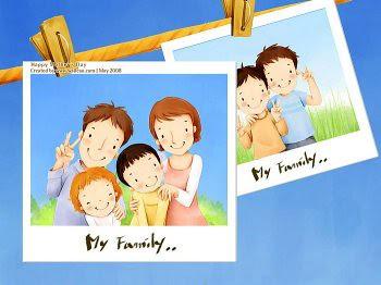 Lovely_illustration_of_Happy_family_photo_wallcoo.com