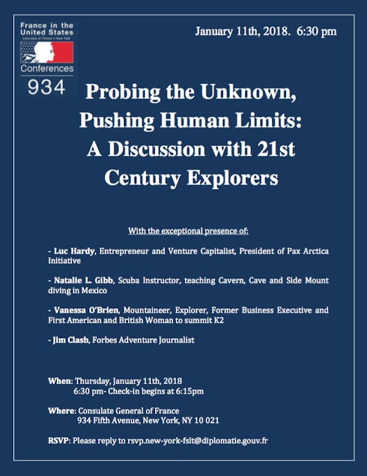 Conférence 934 : Probing the Unknown, Pushing Human Limits - A Discussion with 21st Century Explorers