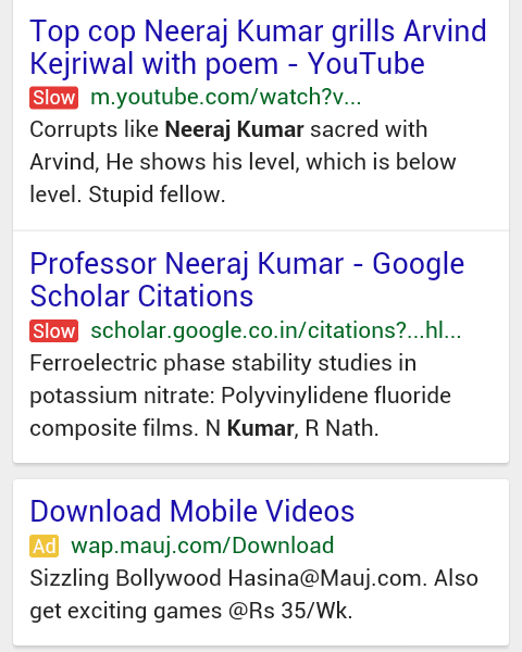 "Google Mobile Displaying ""Slow"" Label In Search Results For Slow Sites?"