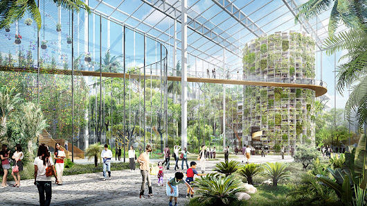 This 100-hectare vertical urban farm will feed 24 million people