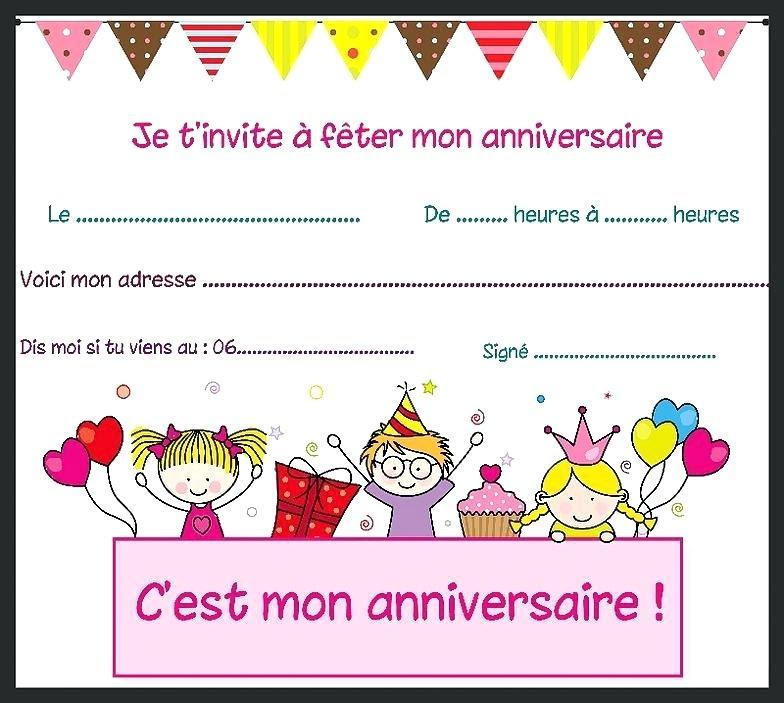 invitation anniversaire gratuite a