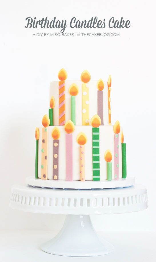 Tutorial on how to make a Birthday Candles Cake with Fondant Candles #birthday #cake #candles