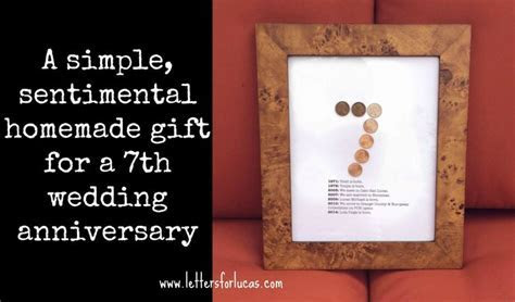 A simple gift idea for your 7th wedding anniversary   what