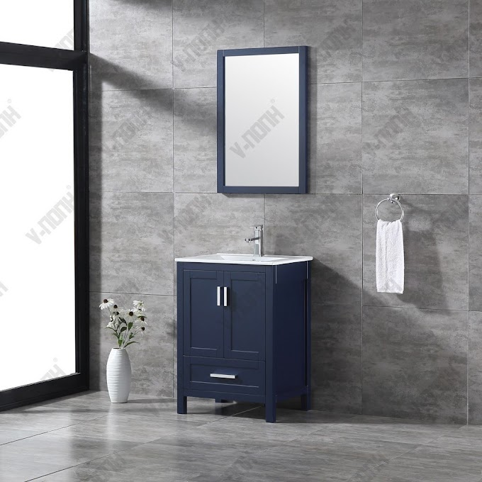Freestanding 24 Inch Bathroom Vanity - Allen Roth Clarita 24 In White Undermount Single Sink Bathroom Vanity With White Engineered Stone Top In The Bathroom Vanities With Tops Department At Lowes Com - Eviva bari 24″ champaign freestanding bathroom vanity with integrated.