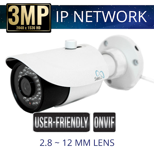 3mp IP Network Bullet Camera Weatherproof with IR