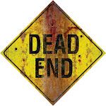 Dead End Metal Sign - 47339 - Black/Yellow - One Size