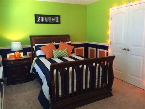 lime green navy  orange toddler boys room im loving