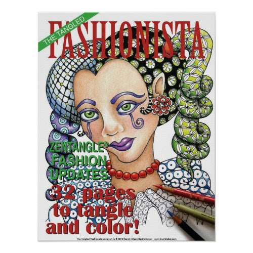 Tangled Fashionista cover poster zazzle_print
