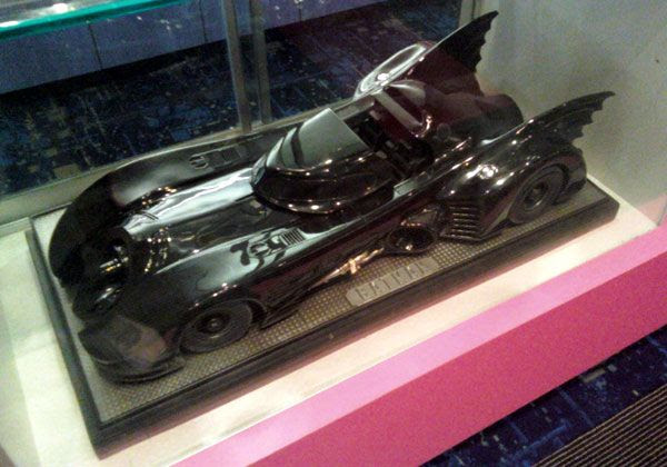 The 2-foot-long Batmobile on display at my local mall.