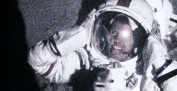 An alien creature finds its way inside the U.S. astronaut's spacesuit in APOLLO 18.