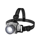 Stalwart 75-7743 28 Lumen LED Headlamp Adjustable Headband for Kids & Adults Battery Operated LED Bulbs for Camping Running Hiking & Emergency