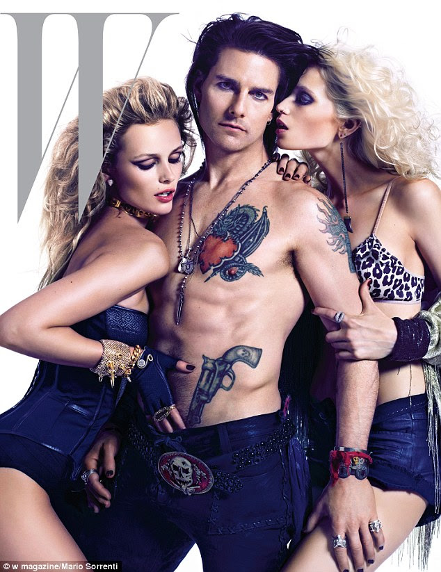 Straight shooter: Tom Cruise unveils his rock god look for the cover of W magazine