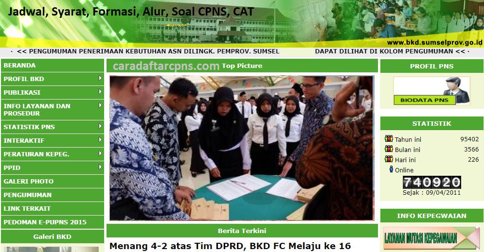 Jadwal Pendaftaran CPNS Pemprov Sumsel 2021 Lulusan SMA ...