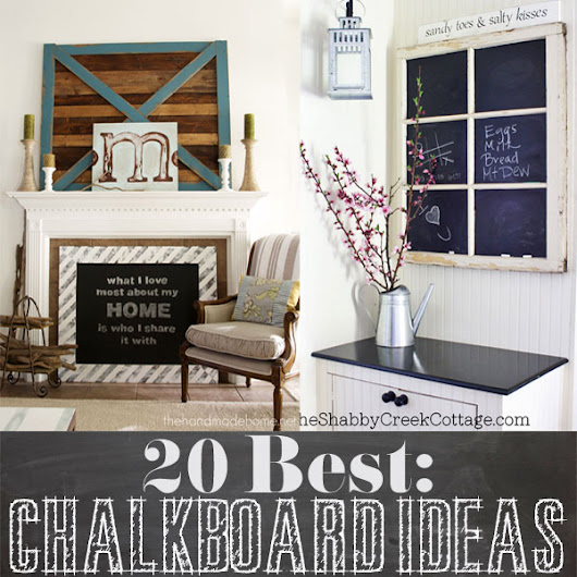 20 Best: DIY chalkboard Ideas