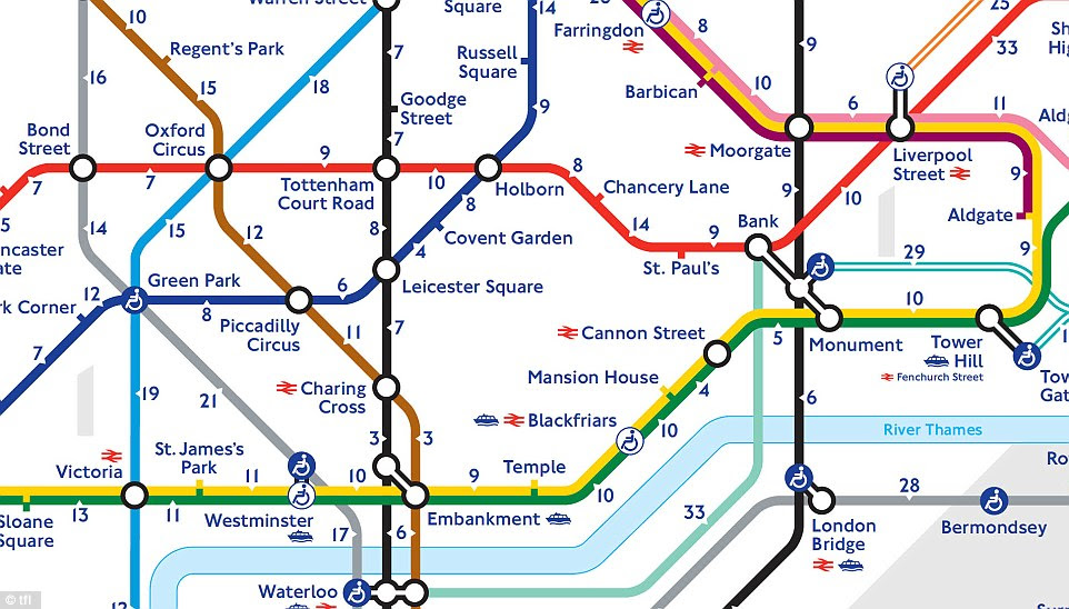 Close-up: The map proves that in the West End and the City it can be quicker to walk than to take the Tube
