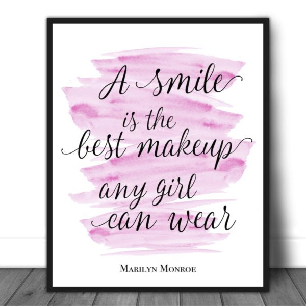 A Smile Is The Best Makeup Any Girl Can Wear Quotes And Design