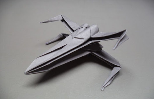 Learn How to Make an Origami Star Wars X-Wing Starfighter | FizX