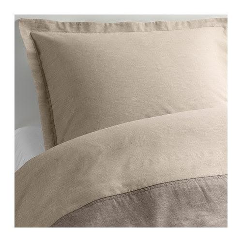 MALOU Pussilakana + 1 tyynyliina IKEA Lankavärjätty: lanka on värjätty ennen kutomista, minkä ansiosta vuodevaatteet ovat pehmeät.