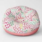 "35.5"" Jumbo Two Tone Removable Cover Bean Bag Flowers - Pillowfort"
