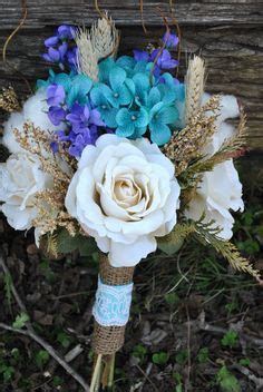 teal  purple wedding flower arrangements wedding