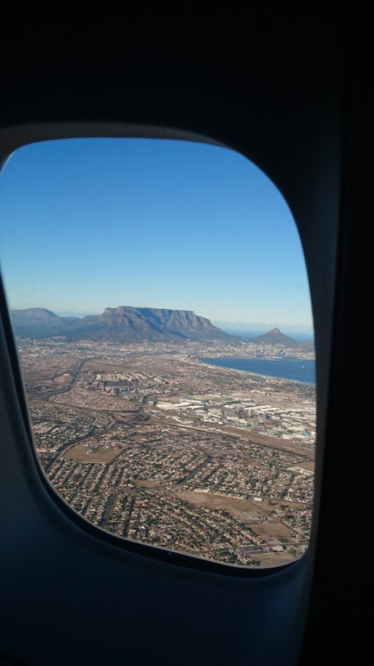Monday Geology Picture: Airplane View of Table Mountain - Georneys