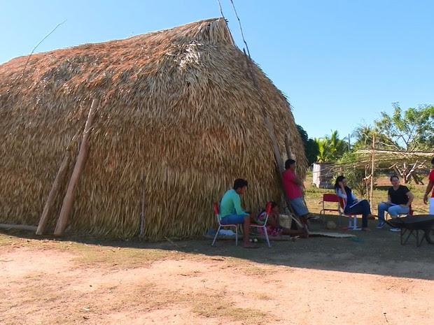 Museu está instalado dentro de aldeia, em Cacoal (Foto: Rede Amazônica/ Reprodução)