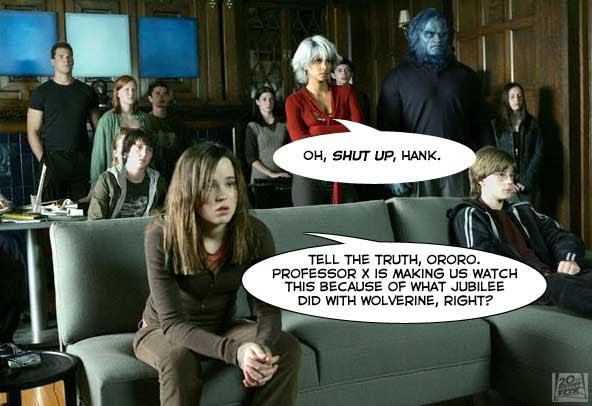 Movie Night at Xavier's