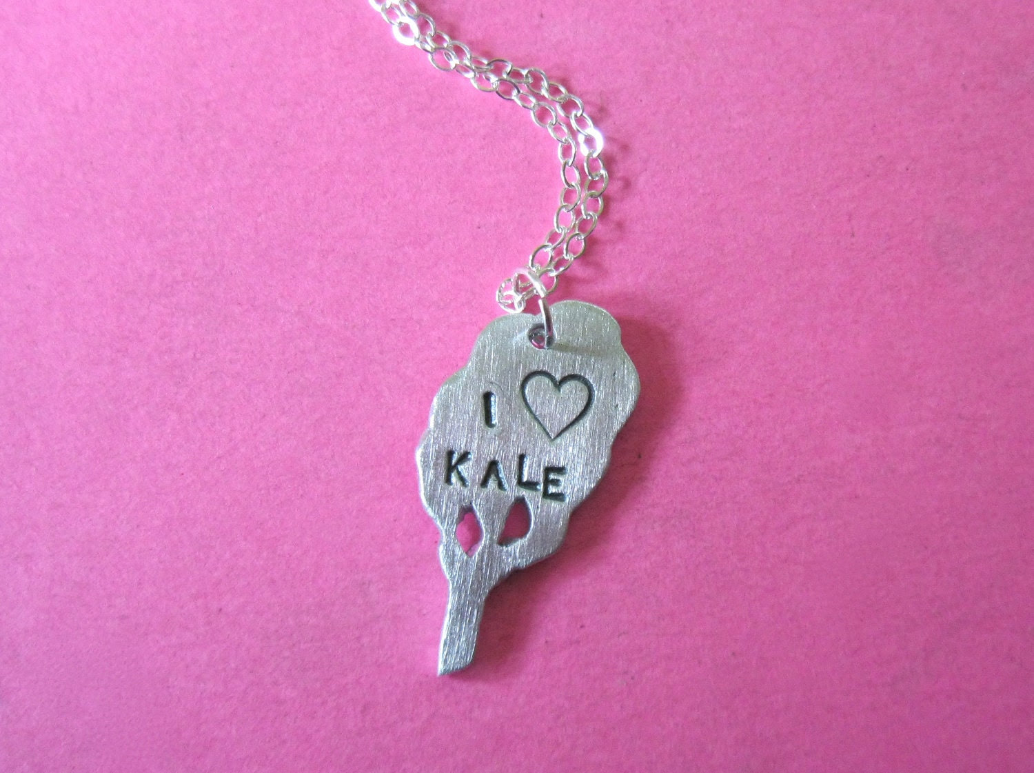 I Heart Kale Earth Friendly Pendant