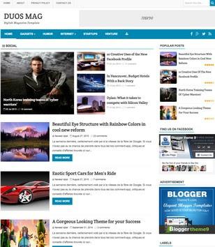 Duos Mag Blogger Templates