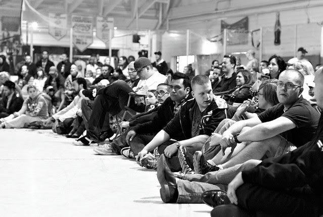 the audience is ready for some roller derby