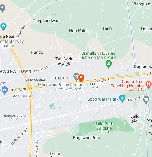 GT Road leading to Wagah – Google My Maps