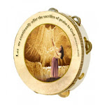 Holy Land Gifts 43863 Instr Tambourine 10 in. Rnd Woman Dancing