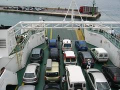 Coches en el ferry